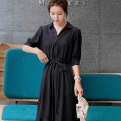 【KISSDIAMOND】新款收腰顯瘦氣質魚尾中長連衣裙洋裝-KDD-1305( 清新/氣質/OL/年輕)