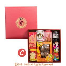 特選聚寶禮盒C(上等香菇+昆布 +昆布+日松+金茸+櫻花蝦+海帶芽+海苔醬)(南北貨禮盒)