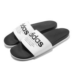 adidas 拖鞋 Adilette Comfort 男女鞋 愛迪達 外出 方便 好穿拖 情侶鞋 黑 白 FX4287 [ACS 跨運動]