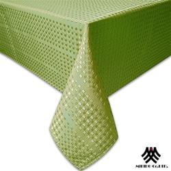 【M.B.H】莫卡小格緹花防潑水桌巾-綠(140x230cm)