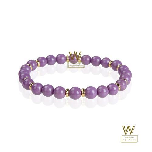 【w-jewelry】典雅紫雲母手珠(升值空間超大-促銷款)/