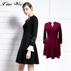 CHENG DA 秋冬專櫃精品時尚羊毛長袖洋裝 NO.559157紅色