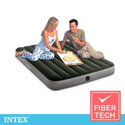 INTEX 經典雙人(fiber-tech)充氣床墊(綠絨)-寬137cm(64108)