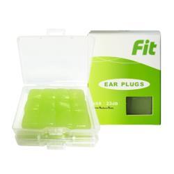 FIT 矽膠耳塞 超柔軟可塑型 防噪音 游泳 飛行 適用/24入/綠色  (內附收納盒價值$60)