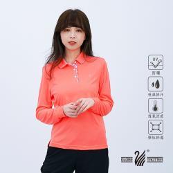 【遊遍天下】女款抗UV吸濕排汗機能POLO長衫GL1016亮桔