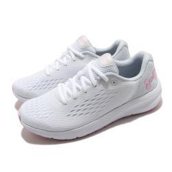 UA 慢跑鞋 Charged Pursuit 2 女鞋 輕量 透氣 舒適 避震 路跑 健身 白 粉 3023866101 [ACS 跨運動]