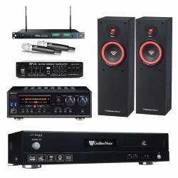 金嗓 CPX-900 F1 點歌機4TB+NaGaSaKi DSP-A1 II+MIPRO ACT-869+SL-8+FBC-9900