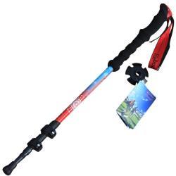 PUSH!登山休閒用品7075鋁合金直柄3節登山杖外鎖杖健行登山杖P142