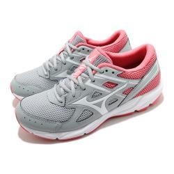 Mizuno 慢跑鞋 Spark 6 輕量 運動 女鞋 美津濃 透氣 舒適 避震 路跑 健身 灰 粉 K1GA210401 [ACS 跨運動]