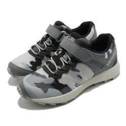 Merrell 慢跑鞋 Nova 2 運動 童鞋 女鞋 魔鬼氈 慢跑 跑步 休閒 郊遊 灰 黑 MK264723 [ACS 跨運動]