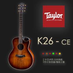【Taylor 泰勒】Taylor KOA系列 -公司貨保固 (K26CE)
