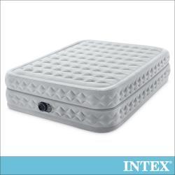 INTEX 豪華菱紋擬真雙氣室雙人加大充氣床152x203x高51cm(64489)