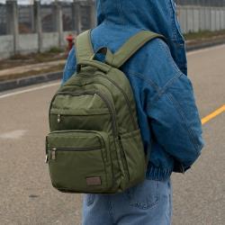 J II 後背包-無限多隔層防潑水後背包-橄欖綠-6377-15