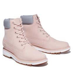 Timberland 女款淺粉色磨砂革防水6吋輕量靴A2EU4662