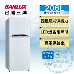 SANLUX台灣三洋206公升 一級能效二門電冰箱 SR-C206B1-庫(S)