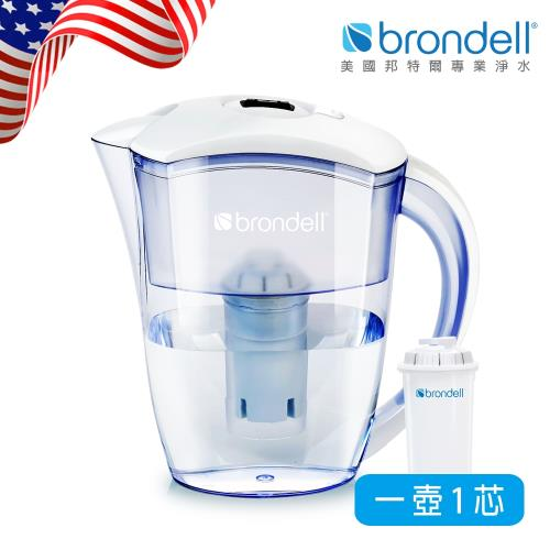 【Brondell】美國邦特爾極淨白濾水壺(牛轉錢坤送真芯,共4芯)/