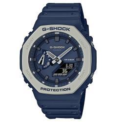 【CASIO 卡西歐】G-SHOCK 雙顯 男錶 矽膠錶帶 防水200米 礦物玻璃(GA-2110ET-2A)