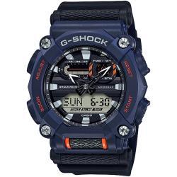 CASIO 卡西歐 G-SHOCK 潮流工業風雙顯計時手錶-藍 GA-900-2A