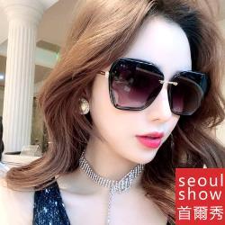 seoul show首爾秀 鑲鑽方框太陽眼鏡UV400墨鏡 6048