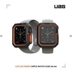 UAG Apple Watch 44mm 耐衝擊簡約保護殼-黑