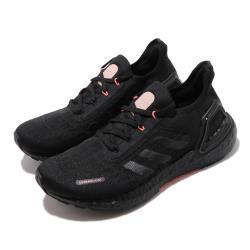 adidas 慢跑鞋 UltraBOOST Summer 女鞋 愛迪達 襪套式 路跑 緩震 透氣 舒適 黑 紅 EG0746 [ACS 跨運動]