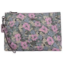COACH 89543 花卉印花造型大手拿包/萬用包.紫
