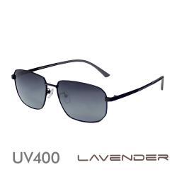 Lavender 偏光片太陽眼鏡 紳士方框-時尚黑-J3150 C4