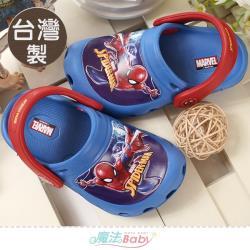 魔法Baby 男童鞋 台灣製蜘蛛人動漫正版晴雨休閒鞋~sa11506