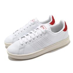 adidas 休閒鞋 Advantage 復古 男鞋 愛迪達 三葉草 皮革鞋面 穿搭 白 紅 FY8808 [ACS 跨運動]