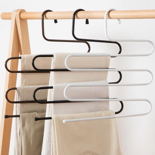 2支-加粗S型不鏽鋼褲架 多層褲架 圍巾架