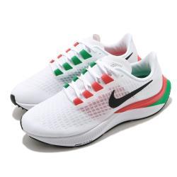 Nike 慢跑鞋 Zoom Pegasus 37 運動 女鞋 氣墊 舒適 避震 路跑 健身 球鞋 白 黑 DD9481100 [ACS 跨運動]