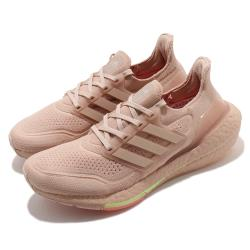 adidas 慢跑鞋 UltraBOOST 21 襪套式 女鞋 愛迪達 緩震 馬牌輪胎大底 穿搭推薦 粉 FY0391 [ACS 跨運動]
