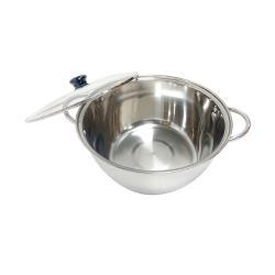 台灣製 派樂304不銹鋼湯鍋含玻璃蓋1組-28公分大容量火鍋