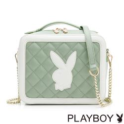 PLAYBOY- 手提斜背包 雅緻兔頭風格系列-綠色