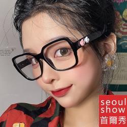seoul show首爾秀 花朵造型防藍光UV400老花近視可換片平光眼鏡 98035