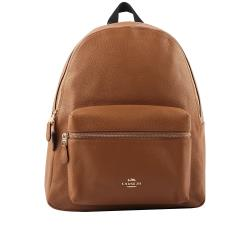COACH 皮革口袋後背包(大款)(駝色) F29004 IMLQD