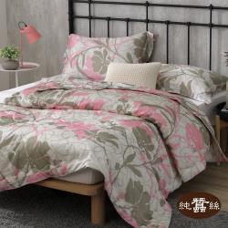 【岱妮蠶絲】精美數位印花絲棉緞蠶絲涼被0.7kg-復古變形(PHS38E01)