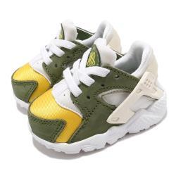 Nike 休閒鞋 Huarache Run LE 聯名 童鞋 Stussy 經典 武士鞋 收藏 小童 白 綠 DH3323300 [ACS 跨運動]