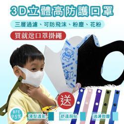 【Easy-O-Fit】台灣製3D立體口罩 30入/盒 (送時尚口罩掛繩) 3盒