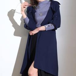 【A1 Darin】新素材英式修身經典風衣外套-型錄