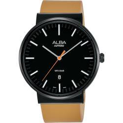 ALBA 雅柏 主張型男時尚手錶-黑x卡其色/44mm VJ42-X269J(AS9H43X1)