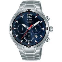 ALBA-雅柏 IG廣告款-型男計時錶-藍x44mm VD53-X353B(AT3G37X1)