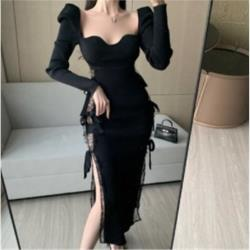 複古收腰顯瘦連衣裙