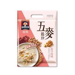 【QUAKER 桂格】五麥穀珍-松子核桃 27g*10包(營養高纖 減糖15%)