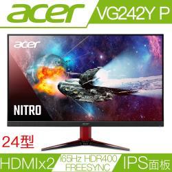 ACER宏碁 VG242Y P 24型IPS面板165Hz刷新率FreeSync電競液晶螢幕