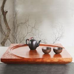 生活禪 浮雕簡約-紅花梨禪風茶盤 (47x38x6cm) B02-034