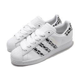 adidas 休閒鞋 Superstar W 復古 低筒 女鞋 愛迪達 三葉草 貝殼頭 皮革鞋面 穿搭 白 黑 FV3452 [ACS 跨運動]