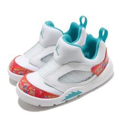 Nike 休閒鞋 Jordan 5 Retro 運動 童鞋 襪套 舒適 避震 喬丹 小童 穿搭 白 紅 CK1228148 [ACS 跨運動]