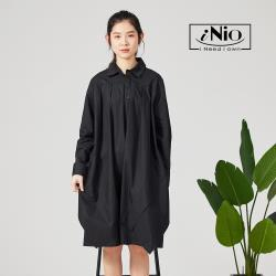 【iNio】設計款長版襯衫洋裝連衣裙-現貨快出【C0W1295】