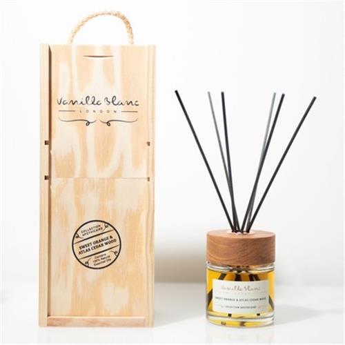 hoi!好好生活 VANILLA BLANC木製擴香禮盒-檸檬草&尤加利100ml